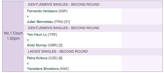 Wednesday: Wimbledon